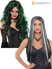 Adults Witch Wig Ladies Halloween Fancy Dress Accessory Womens Vampire Gothic