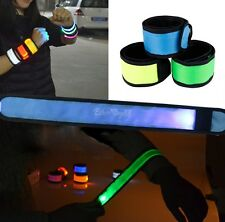 LED Flashing Wristband Bracelet Arm Band Concert Light Up Dance Glow Slap Band