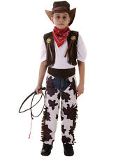 Boys Kids Cowboy Outfit Fancy Dress Costume Children Party Rodeo Wild West 3-12