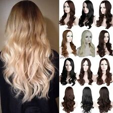 Women Wig Long Curly Full Hair Cosplay Party Fancy Dress 2016 Cheap Price Blonde