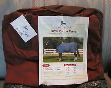 State Line Tack 100% Cotton Horse Stable Sheet  Brown New