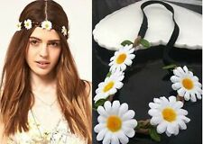 Womens Daisy Flower Elastic Stretch Hair Band Headband Headpiece Crown Festival