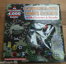 *NEW* 4000 Camouflage Loom Bands with Charms and Beads