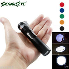 CREE XPE-R3 LED 250LM Lamp Clip Mini Penlight Flashlight Torch AAA Battery Light