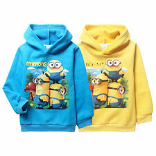 Lovely Despicable Me Minions Hoodies FOR Kids Boys Girls Fleeced Cartoon Coat