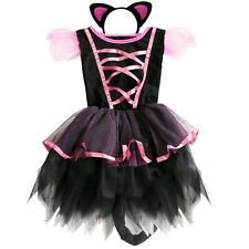 HALLOWEEN Cat Kitty Girl Cospaly Party Tutu Costume Outfit Dress Up+Ear Headband