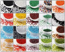 Size 11/0 (2mm) Glass Seed Beads -  75g/100g/150g Packs, Jewellery Making, Craft