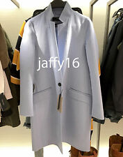 ZARA WOOL HANDMADE COAT SKY BLUE XS-XL REF. 5854/221