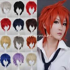 New Anti-Alice Short Wig Cosplay Party Straight Hair Full Wig Fancy Dress UK WP1