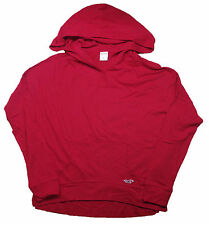 HOLLISTER WOMENS LONG SLEEVE HOODED T-SHIRT THIN HCO HOODIE RED PINK