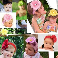 14 color baby girl women crochet headbands lots hair bows Bands hair clips US69