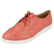 Ladie Spot On Lace Up Brogue Shoes Style - F9813 - D