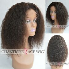 Best Curly Human Hair Lace Front Wigs Indian Remy Glueless Full Lace Black Wig