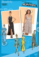 Simplicity Project Runway Misses Sewing Pattern 1881 Knit Dress