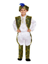 Age 4-12yrs Boys Indian Prince King Costume Bollywood Asian Maharaja Fancy Dress