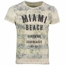 Key Largo men's round neck T-Shirt sand beige Used Look patterned Miami sand