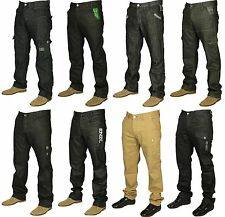 MENS BRAND NEW ENZO JEANS IN BLACK COATED BEIGE GREY COLOURS STRAIGHT RRP £39.99