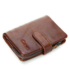Men's Genuine Leather Bifold Wallet Card Case Clutch Coin Purse