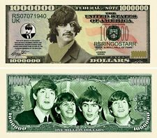 Ringo Starr (Beatles) Million Dollar Bill (Pick Quantity 5 to 5000 Bills) W/Bill