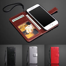 For Apple iPhone 7&7 Plus Luxury Leather Wallet Card Case With Strap Flip Cover