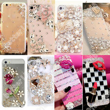 Luxury Bling Crystal Diamond Rhinestone Hard Clear Case Cover Back Skin Fr Phone