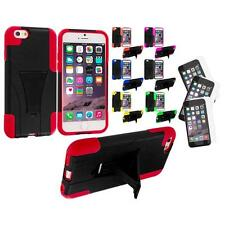 For Apple iPhone 6 (4.7) Hybrid Armor Case Stand+3X Anti Glare Screen Protector