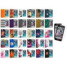 For Apple iPhone 6 (4.7) Design TPU Case Cover+2X Anti Glare Screen Protector