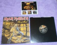 IRON MAIDEN piece of mind EMI LP Gatefold Black i/s POM insert A-2U/B-1U EMA 800