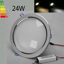 24W Warm/Cool White Recessed LED Ceiling Flood Down Spot Lamp Bulb Light 85-265V