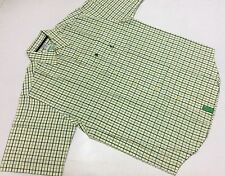 New LIFTED RESEARCH GROUP (L-R-G) S/S BUTTON-FRONT SHIRT LARGE GREEN (#10722)