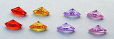 Geometric  Shape ( 5x11.5 mm) Cubic Zirconia   ONE PAIR - assorted colors