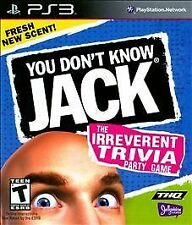 Sony Playstation 3 PS3 Game YOU DON'T KNOW JACK