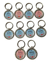 Memorial Angel Wing Bottle Cap Keychains (You Choose Design)