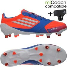 Adidas F50 Adizero XTRX SG men's soccer cleats red/white/blue plus studs key NEW