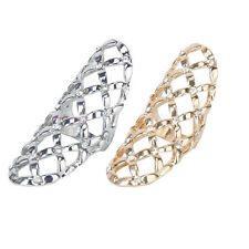 Women Fashion Silver Gold Full Finger Knuckle Joint Rhinestone Hollow Charm Ring