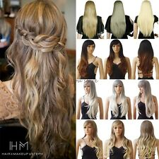 Brand New Women Wig Long Curly Straight Full Hair Wigs Cosplay Party Fancy Dress