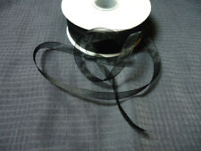 "New Sheer Black Organza 1/4"" Ribbon DIY Bow Craft Jewelry Making"