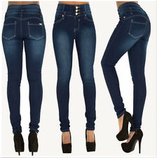 Womens Pencil Stretch Pants Casual Denim Skinny Jeans High Waist Slim Trousers