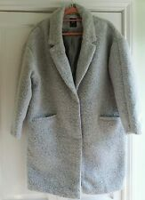 NEW Primark Womens Lagenlook Grey Cocoon Coat Size 14 -. Very Baggy