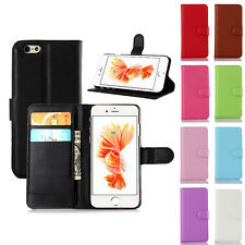 Magnetic Card Slot Flip Cover Leather Wallet Stand Case For iPhone 5 5S SE 6S 7