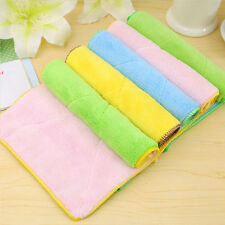 Double-sided Absorbent Rag Dishcloth Towel Home Kitchen Plate Bowl Washing Tools