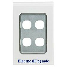 Clipsal Switches Saturn Offer 4 Gang Grid & Cover Plate 4034VH Avail in colors
