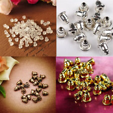 50/100pcs Earring Backs Stoppers Findings Ear Post Nuts Jewelry Findings 7Color