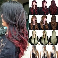 Wigs Long Curly Straight Full Wig Cosplay Party Daily Fancy Dress New Style Hair