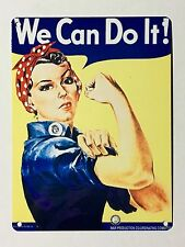 Rosie We Can Do It! SML - Tin Metal Wall Sign