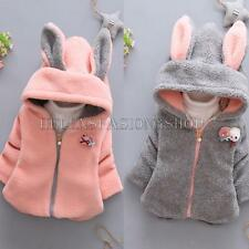 Kids Toddler Girls Winter Fall Fleece Jacket Kid Hooded Coat Outwear Clothing
