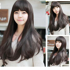 Womens Fashion Slight Curly Wave Long Hair Full Wigs+Wig Cap Gift Cosplay Party