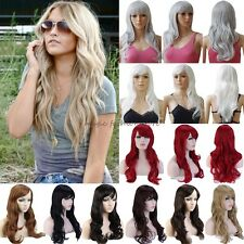 Full Head Wig Cosplay Costume Long Curly Straight Party Fancy Dress Extra Thick