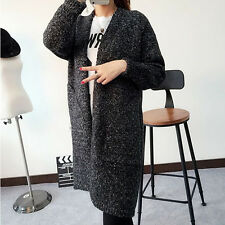 Women Long Sleeve Knitted Cardigan Loose Sweater Outwear Coat Casual Sweater JCQ