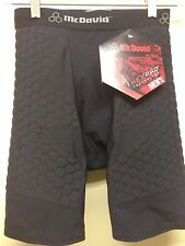 MCDAVID RUGBY HEXPAD SHORT  SMALL  BLACK  769T WICKS MOISTURE COMPRESSION FABRIC